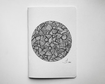 Notebook (5,7 x 9,3 in) | Journal for notes | Gift for Art Lover with an Art Print | Idle Patterns | Doodle art | Mandala art