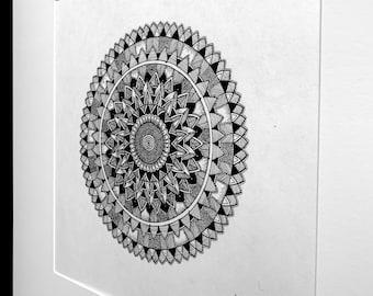 mandala wall art, hand drawn art, original painting, doodle art | Sunflower Idle Patterns