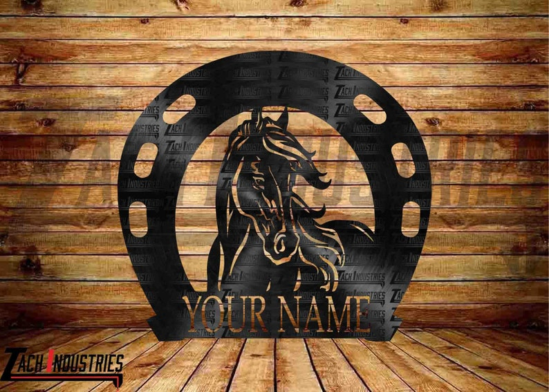 Horse in Horseshoe Monogram