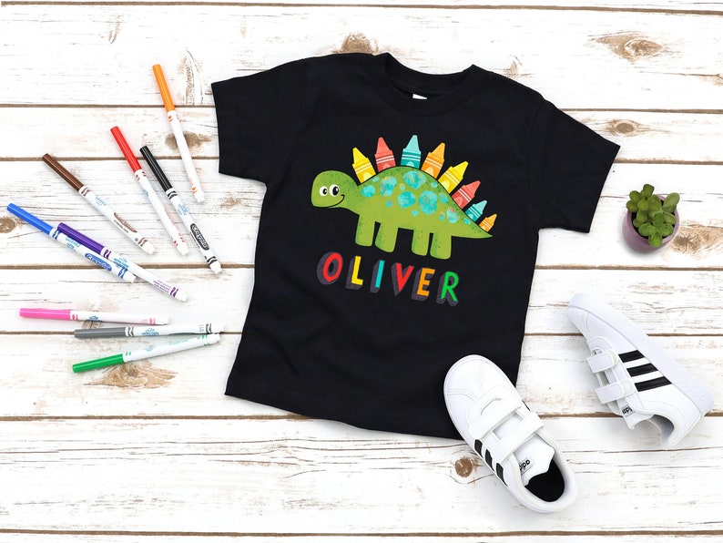 Kids Back To School Shirt Personalized School Shirt Dino image 0