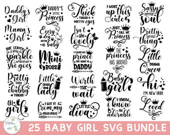 Baby Girl Svg Etsy