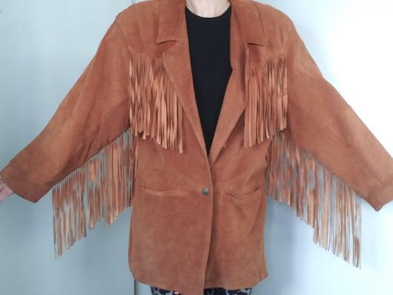 Vintage Fringe leather suede jacket