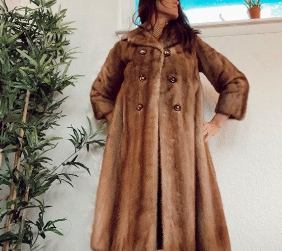 Vintage Genuine Fur Coat, Real Fur Jacket, Brown F