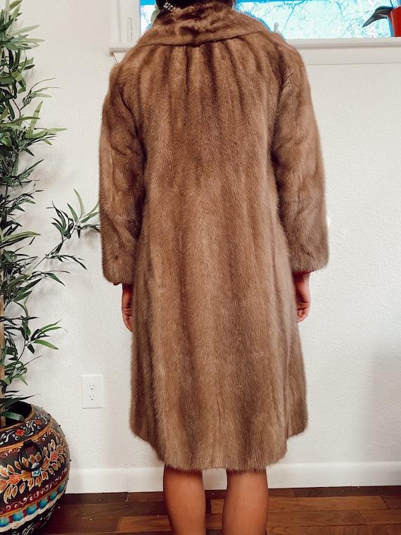 Vintage Genuine Mink Coat, Real Fur Jacket, Brown… - image 4