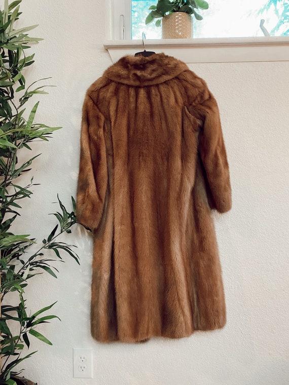 Vintage Genuine Mink Coat, Real Fur Jacket, Brown… - image 3