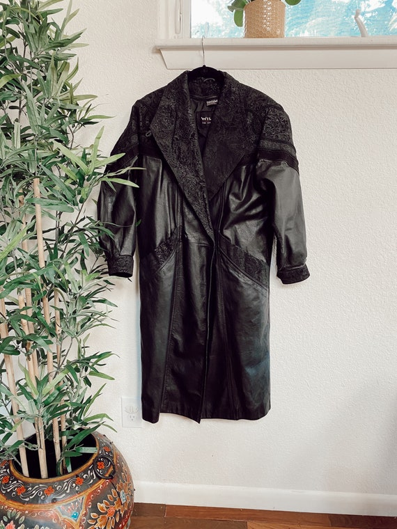 Vintage Wilson's Leather Trenchcoat, Long Leather