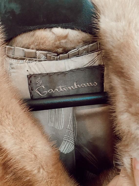 Vintage Genuine Mink Coat, Real Fur Jacket, Brown… - image 7
