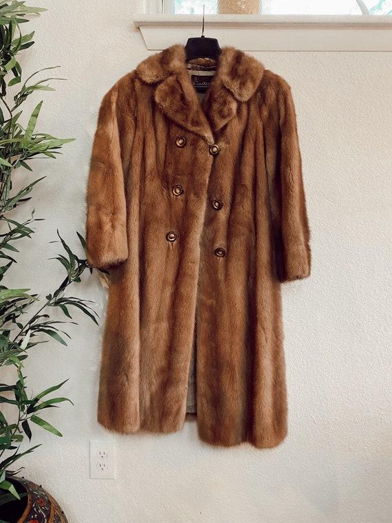 Vintage Genuine Mink Coat, Real Fur Jacket, Brown… - image 2