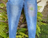 Paisley Persimmon Mended Jeans