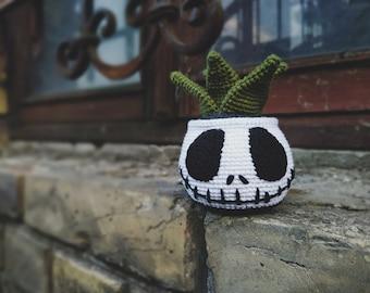 Amigurumi Succulent crochet pattern, Crochet Halloween plant, Fake plant Jack Skull PDF pattern