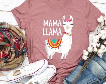 Mama Llama Shirt For Women, Cute Llama T Shirt, Mother Day T Shirt, Family Shirt, Mother Day Gifts Shirt, Gift For Mom, Best Ever Gifts