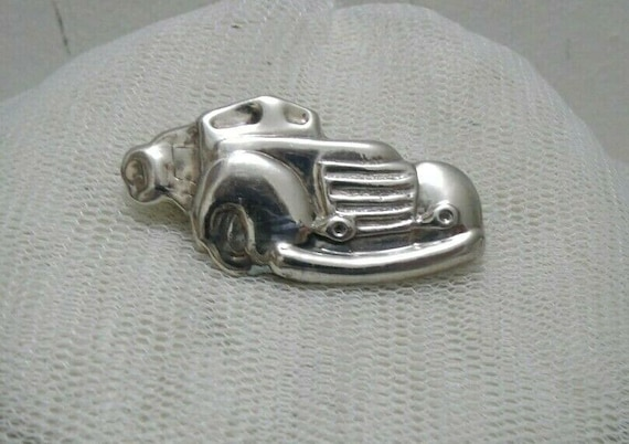 Gorgeous Chunky Sterling Silver Vintage Sports Car