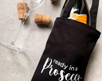 Bottle bag | Prosecco | Gift wrapping | Organic cotton | Fairtrade | Ready in a Prosecco