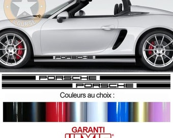 Porsche Boxter 2016 Skirt and Racing Stripe Vinyl Decal