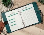 Monatsübersicht A5 1M1S Kalendereinlagen undatiert + Monatsziele + Deckblatt, Monatsplanung, Filofax Organizer Planer, Download