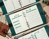 Kalendereinlagen Set A5, Monat 1M1S, Woche 1W1S, Tag 1T1S, Wochenziele, Monatsziele, Erfolgsjournal, Prioritäten, Eisenhower, Download