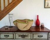 Wavy Bolga straw basket