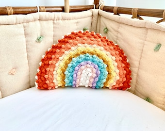 Rainbow Throw Pillow Etsy
