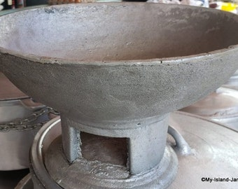 Jamaican COAL POT - FREE Shipping   Traditional 100% Made In Jamaica   Cast Iron Stove   EarthenWare