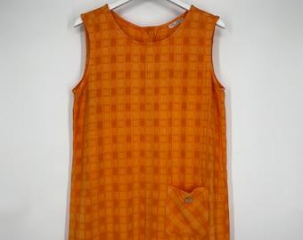 Blue Printed Russ Waterman dress with Satin Belt Vintage Shirt Dress