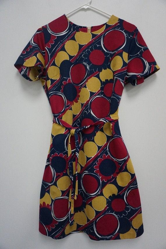 Bold Print Vintage Dress