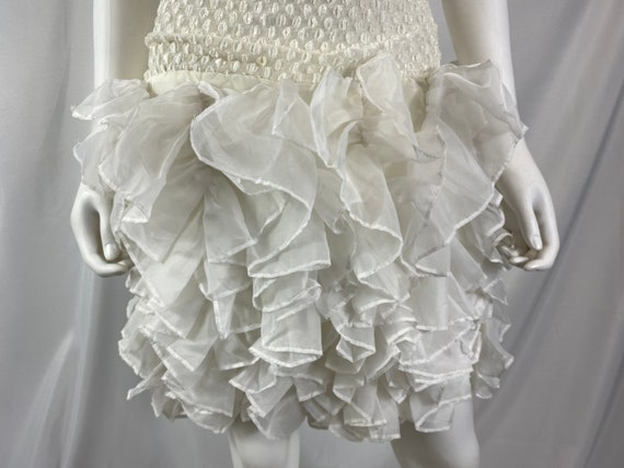 Vintage 80's Cream And White Special Occasion Dre… - image 7