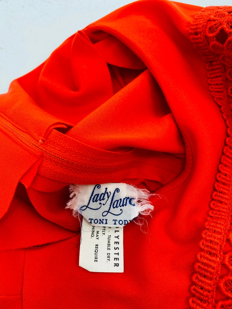 Vintage 70/'s Red Hostess Gown By Lady Laura No SizeFit Size Small Mannequin