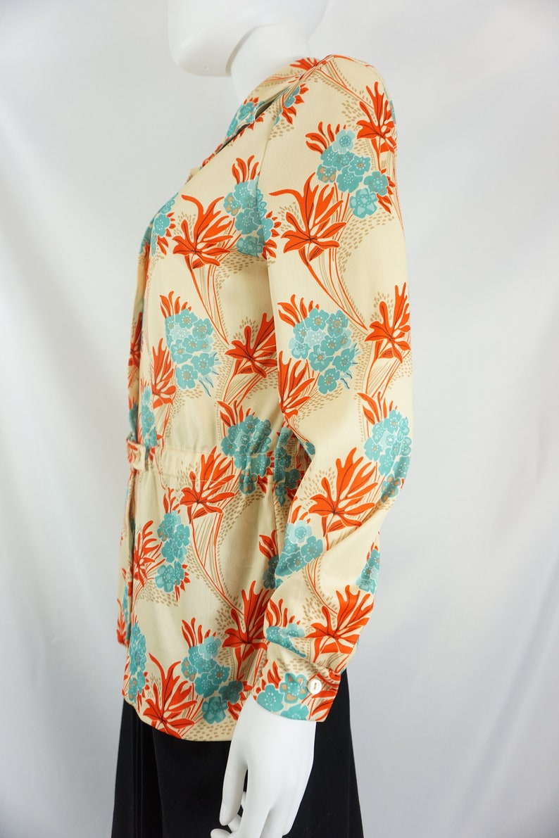 Vintage Sears Flower Tunic Tag Size 16  See Listing For Measurements
