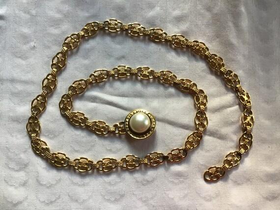 Celine vintage gold metal belt