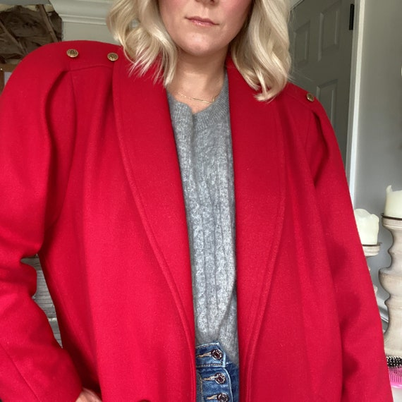 Vintage Red overcoat