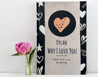 Personalized I Love You Book, The Story Of Us, Personalized Anniversary Gift, For Boyfriend, For Girlfriend, Gift For Him, Gift For Husband