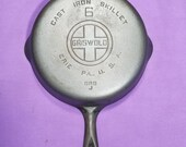 Griswold 6 Cast Iron Skillet with Smooth Bottom Large Block Logo Erie PA USA Clean Smooth 699J Level Sits Flat