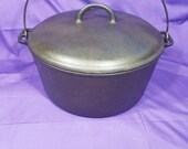 VHTF Griswold 11 Cast Iron Dutch Oven with Lid Slant Erie Logo 836 2554 Clean Smooth Rare Ready To Use