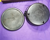 Griswold 10 Chuckwagon Dutch Oven with 3 Feet and Coal Lid Bail Handle Assist Tab Clean Ready To Use