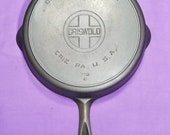 Beautiful 9 Griswold Erie Cast Iron Skillet with Heat Ring Excellent Condition Smooth Level Clean