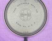 Excellent 9 Griswold Cast Iron Handled Griddle 100 Original Milling Marks 10 1 4 Inches Glass Smooth Clean 609 Ready To Use