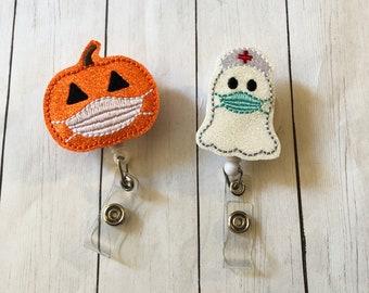Pumpkin With Mask Badge Reel. Nurse Ghost Badge Reel. Medical ID Badge Reel. Nurse Badge Reel. Halloween Badge Reel. Your Choice