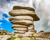 Photograph of Cheesewring Granite Tor | Bodmin Moor, Cornwall | Instant Digital Download in Five Sizes