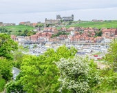 Whitby, North Yorkshire, England. View Across Harbour Towards the Abbey. Instant Digital Download in Four sizes