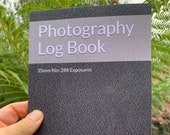 Photography Log Book: For 35mm Film Cameras Paperback. Sufficient pages to capture 288 exposures - equivalent to 12 rolls of 24 exp film