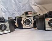 Three Bakelite Cameras. One Lot of Vintage Film Cameras.