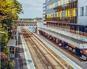 Photograph of and Empty Railway Station in Bracknell Berkshire in Four Sizes. Instant photo Download. Print at Home. Film Image.