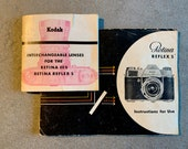 Instruction Manual for Kodak Retina Reflex S plus Lens Booklet in good condition