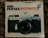 Asahi Pentax Spotmatic F. SLR Film Camera Instruction Manual. Original Copy