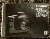 Canon T90 35mm SLR film Camera Instruction Manual. Original Copy. Good Used Condition. UK Delivery Only