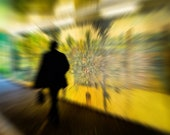 Going to Work - Man and Street Art. Abstract Version. Digital Download Photograph in Four Sizes. Print at Home. Instant Digital Download