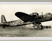 British Short Stirling RAF Heavy Bomber. Vintage Image. Instant Photo Digital Download. Instant Digital Download