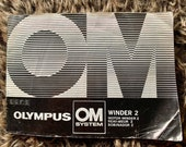 Manual For Olympus OM System Winder 2. Good condition. UK delivery only - Free Post
