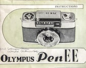 Olympus Pen EE Manual 1964 Camera Manual for Instant Digital Download - PDF. Instant Digital Download