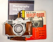 Film Tested Kodak Retina Reflex with Focal Guide Manual, Case. Filter and Colour Film. Plus Photography Log Book. Type 025 Retina Reflex